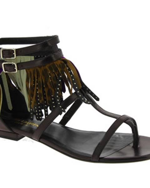 Čierne sandále Saint Laurent