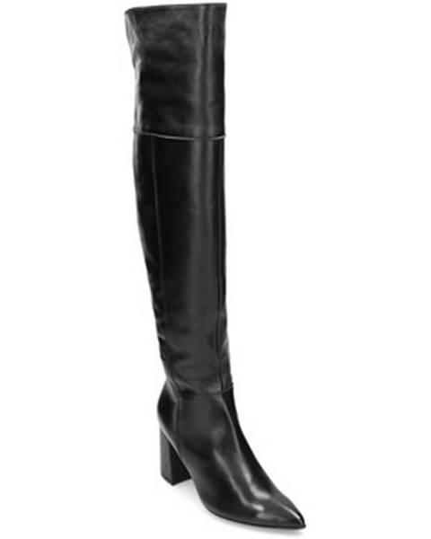 Čierne čižmy Solo Femme