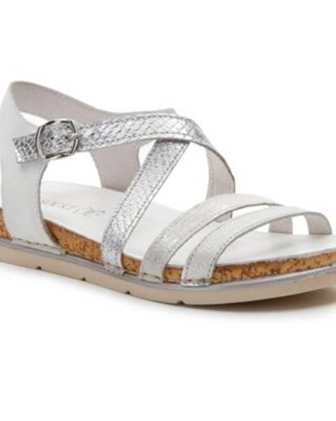 Strieborné sandále Lasocki