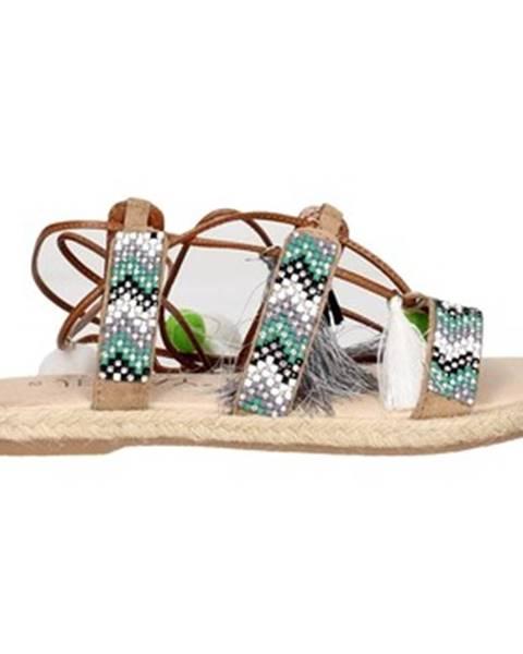 Zelené sandále Jeiday