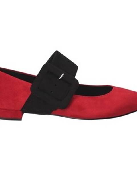Červené balerínky Grace Shoes