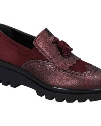 Červené mokasíny Grace Shoes