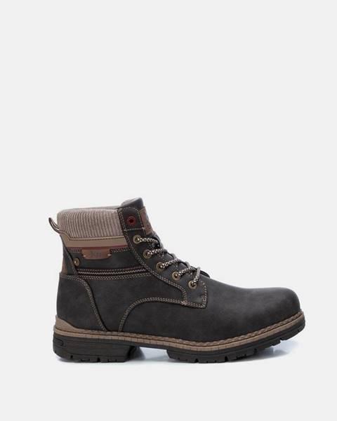 Tmavohnedé topánky Xti