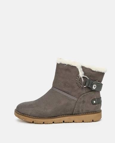 Hnedá zimná obuv Tom Tailor