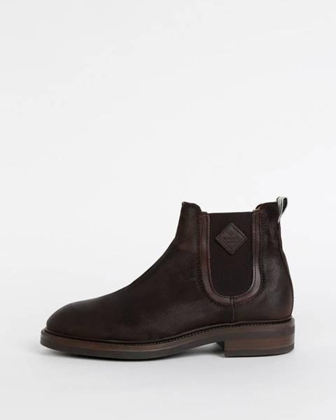 Tmavohnedé topánky GANT