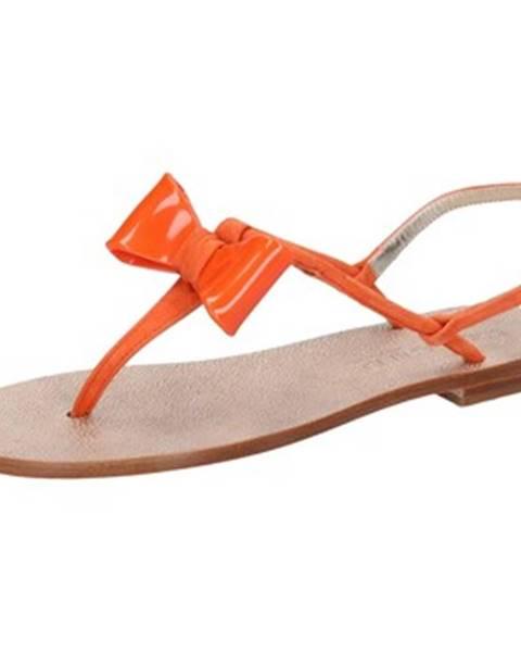 Oranžové sandále Eddy Daniele