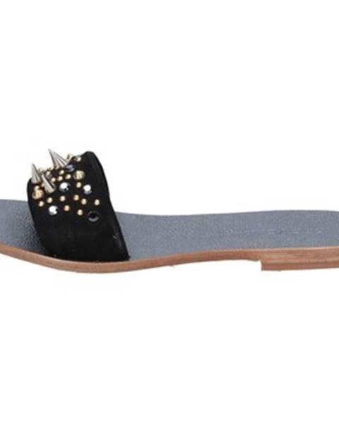 Čierne sandále Eddy Daniele