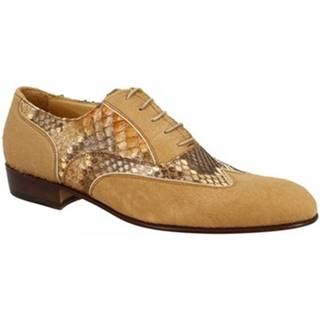 Derbie Leonardo Shoes  037 PONY CAMEL PITONE