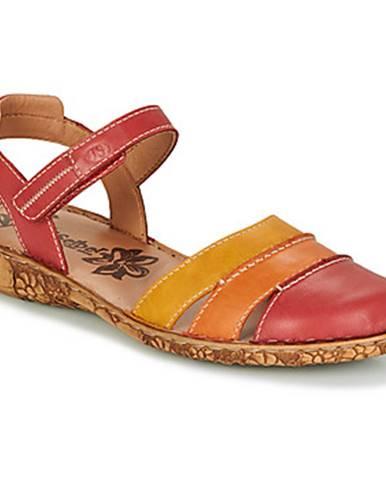Červené sandále Josef Seibel