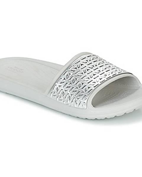 Strieborné topánky Crocs