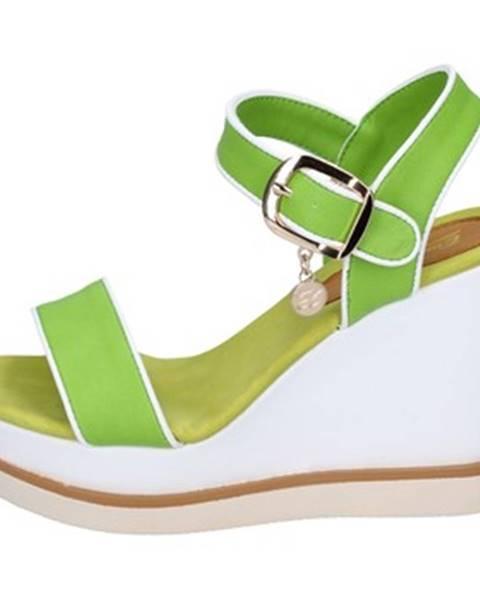 Zelené sandále Enrico Coveri