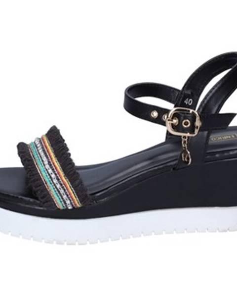 Čierne sandále Enrico Coveri