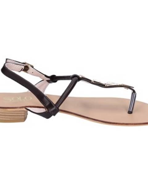 Hnedé sandále Solo Soprani