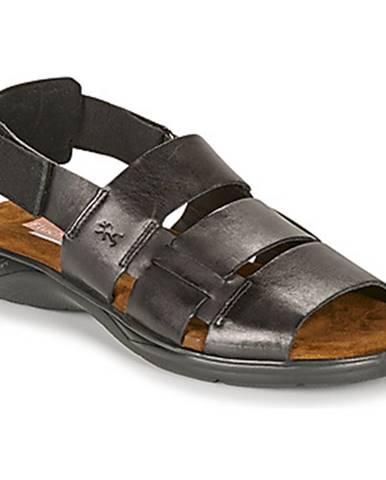 Čierne sandále Fluchos