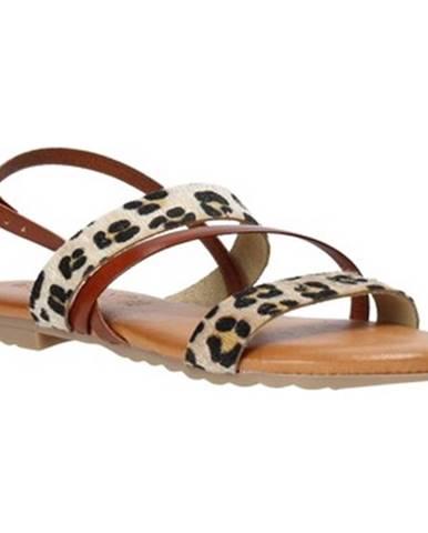 Hnedé sandále Jeiday