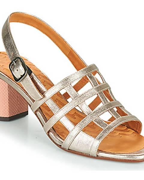 Strieborné sandále Chie Mihara