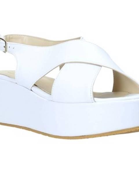 Biele sandále Esther Collezioni