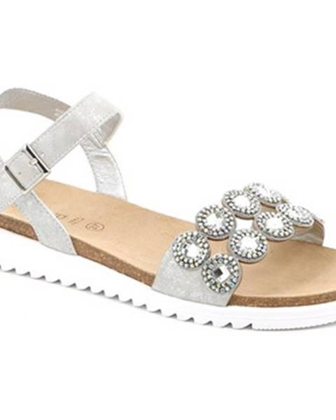 Strieborné sandále Grunland