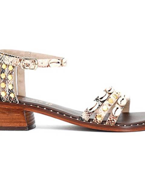 Béžové sandále Café Noir