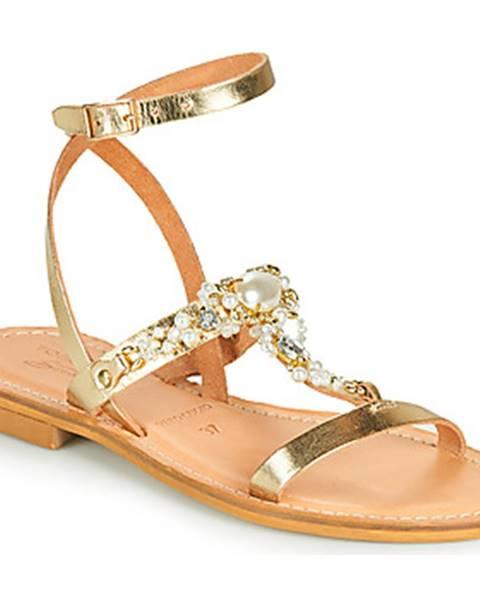 Zlaté sandále Tosca Blu