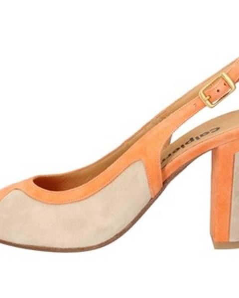 Oranžové sandále Calpierre