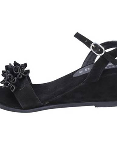 Čierne sandále Adriana Del Nista