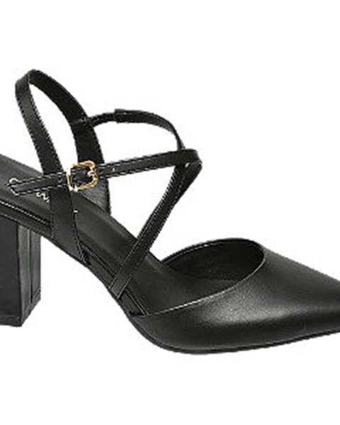 Čierne sandále Catwalk