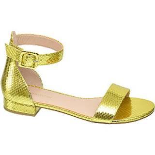 Metalické žlté sandále Rita Ora