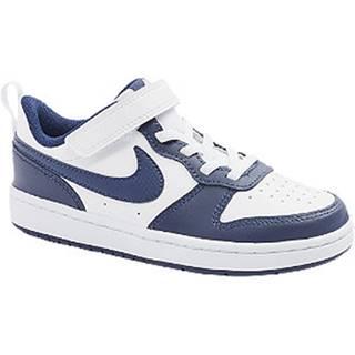 Bielo-modré tenisky na suchý zips Nike Court Borough Low