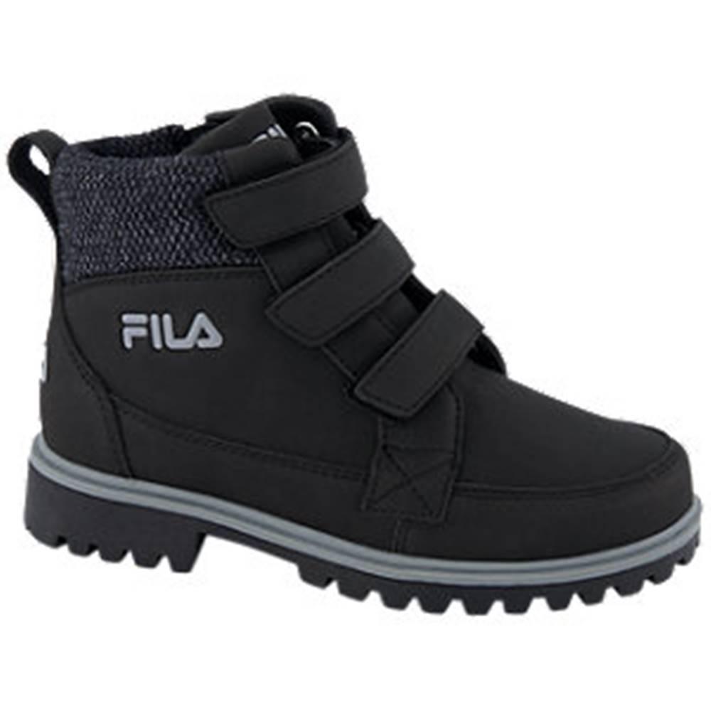 Fila Čierna členková obuv so zipsom Fila