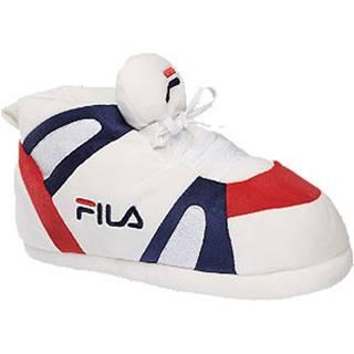 Biele papuče s logom Fila