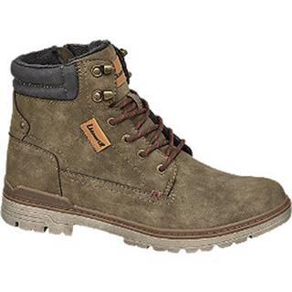 Kaki členková obuv so zipsom Landrover