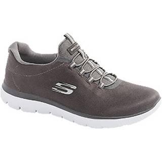 Sivé slip-on tenisky Skechers