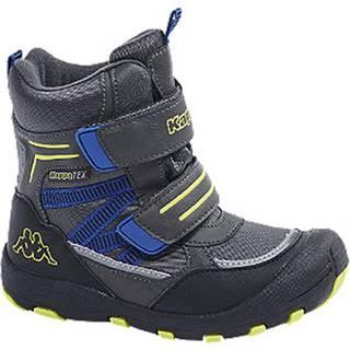 Tmavosivá členková obuv na suchý zips s TEX membránou Kappa