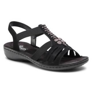 Sandále Rieker 60806-00 Látka/-Materiál