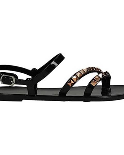 Čierne sandále Bassano