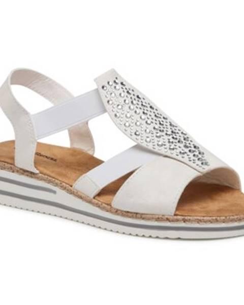 Biele sandále Clara Barson