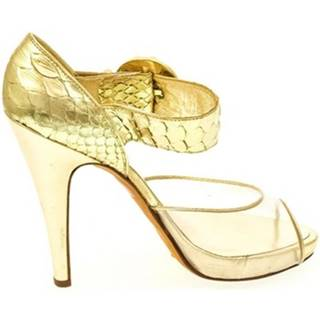 Lodičky John-C  Dámske zlaté sandále HELY