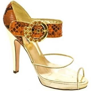 Sandále John-C  Dámske oranžové sandále HELY