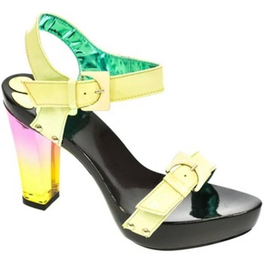 John-C Sandále John-C  Dámske zelené sandále TROI