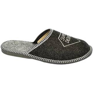 Papuče Bins  Pánske sivé papuče DEDKO