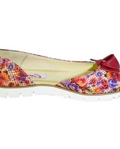 Sandále Carsona  Ružové farebné baleríny s mašľou  RORI