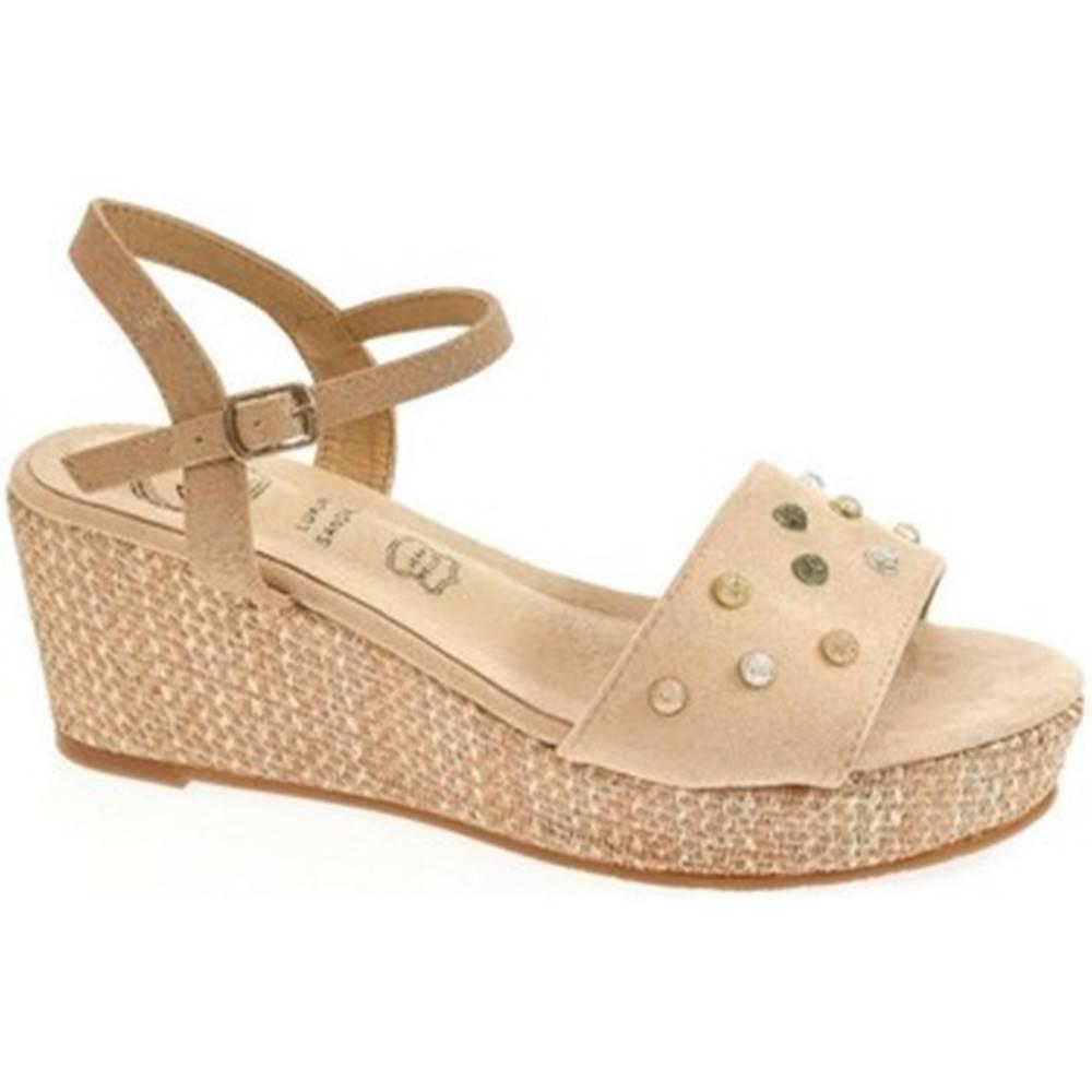 Kylie Sandále Kylie  Dámske svetlo-béžové sandále MARINA