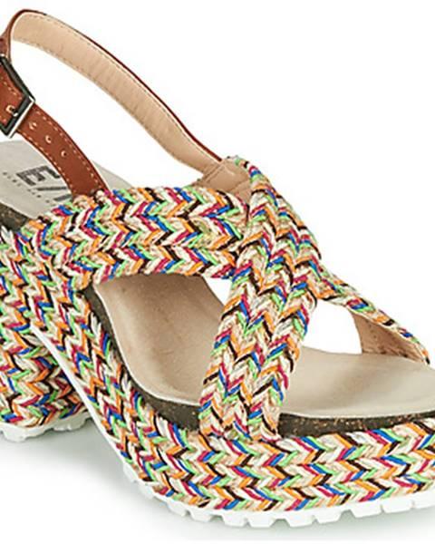 Béžové sandále Elue par nous