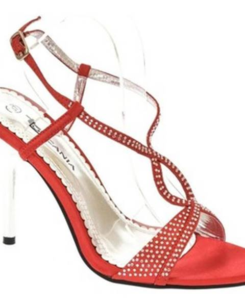 Červené sandále Toscani Paris