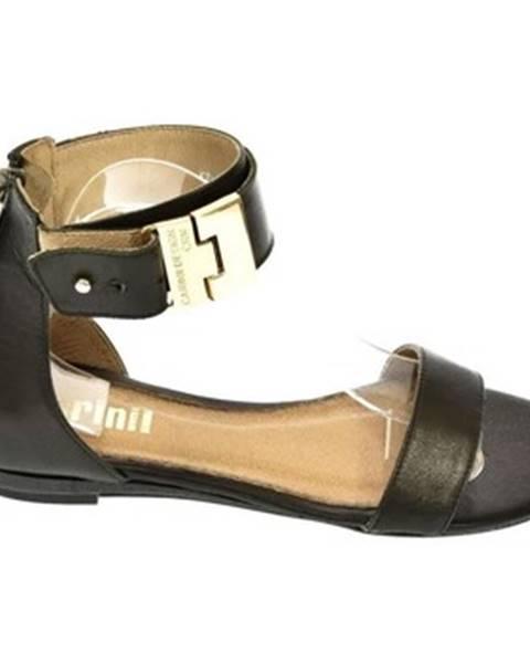 Čierne sandále Carinii