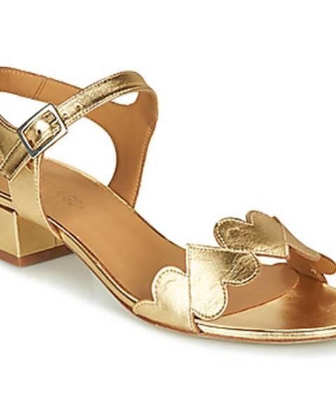 Zlaté sandále Emma Go