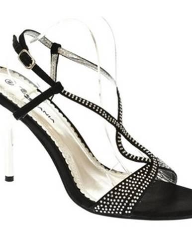 Čierne sandále Toscani Paris