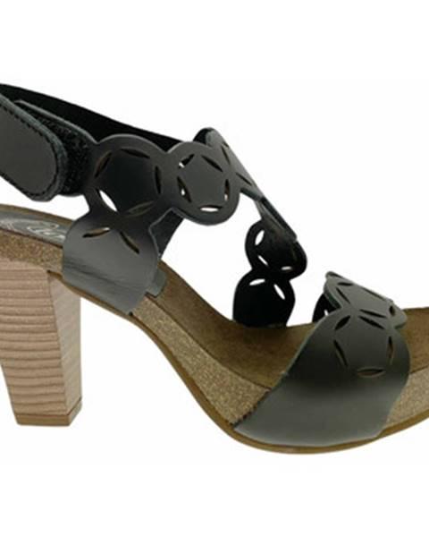 Čierne sandále Calzaturificio Loren