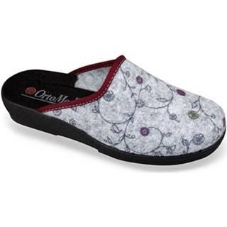 Papuče Mjartan  Dámske sivé papuče  CHERISA